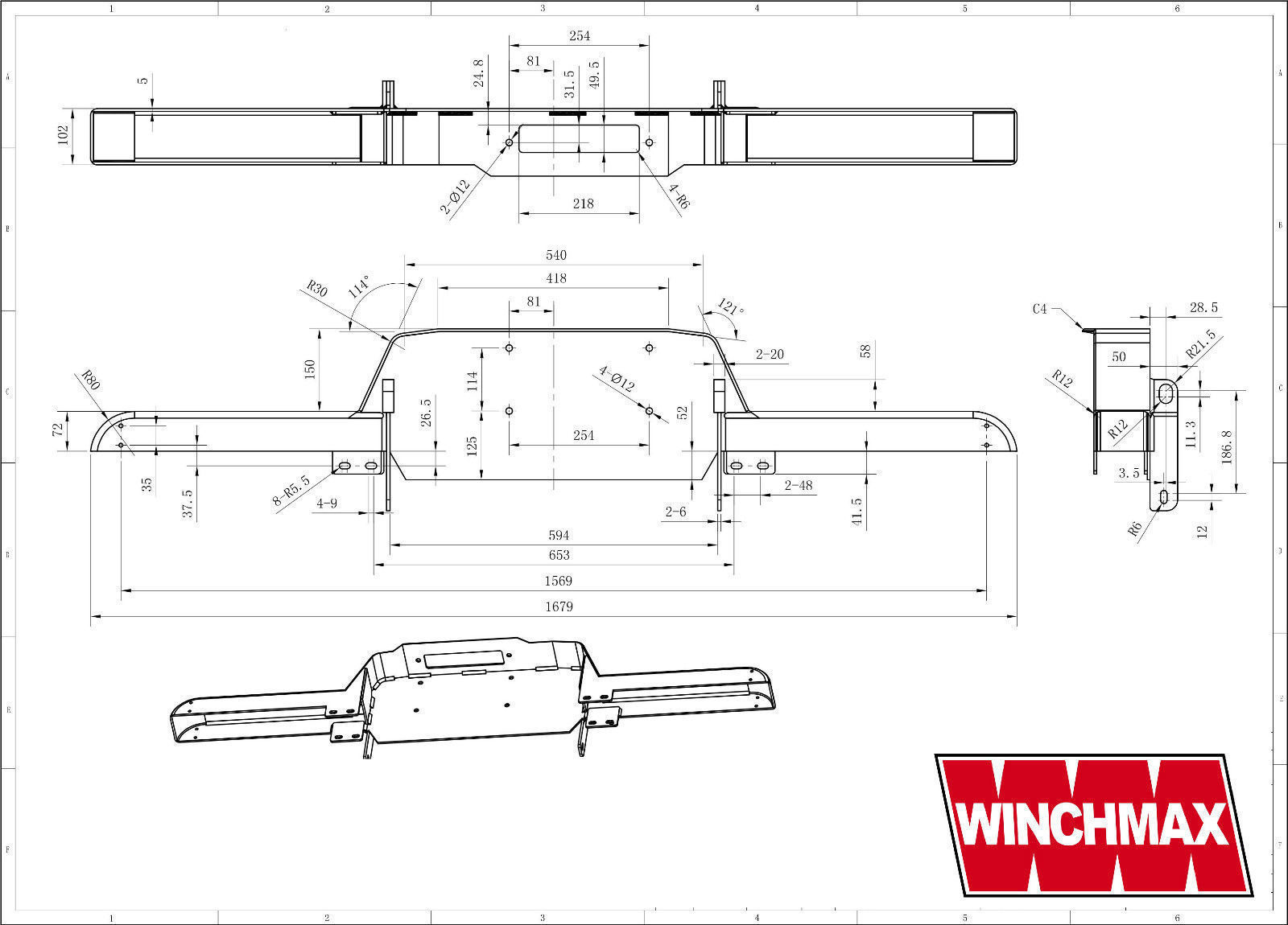 Land Rover Defender Winch Bumper Vpldp0105 Pattern Fits With Or Wiring Diagram 1989 The Guarantee Excludes Wire Rope Damage Caused By Misuse Failure To Follow Instructions Submersion Provided Is Rtb Return