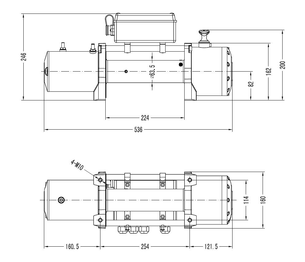 Winchmax Wiring Instructions Guide And Troubleshooting Of Home Doorbell Diagrams Electric Winch 12v 4x4 13000 Lb Military Spec Made By Rh Ebay Com Light Switch Diagram