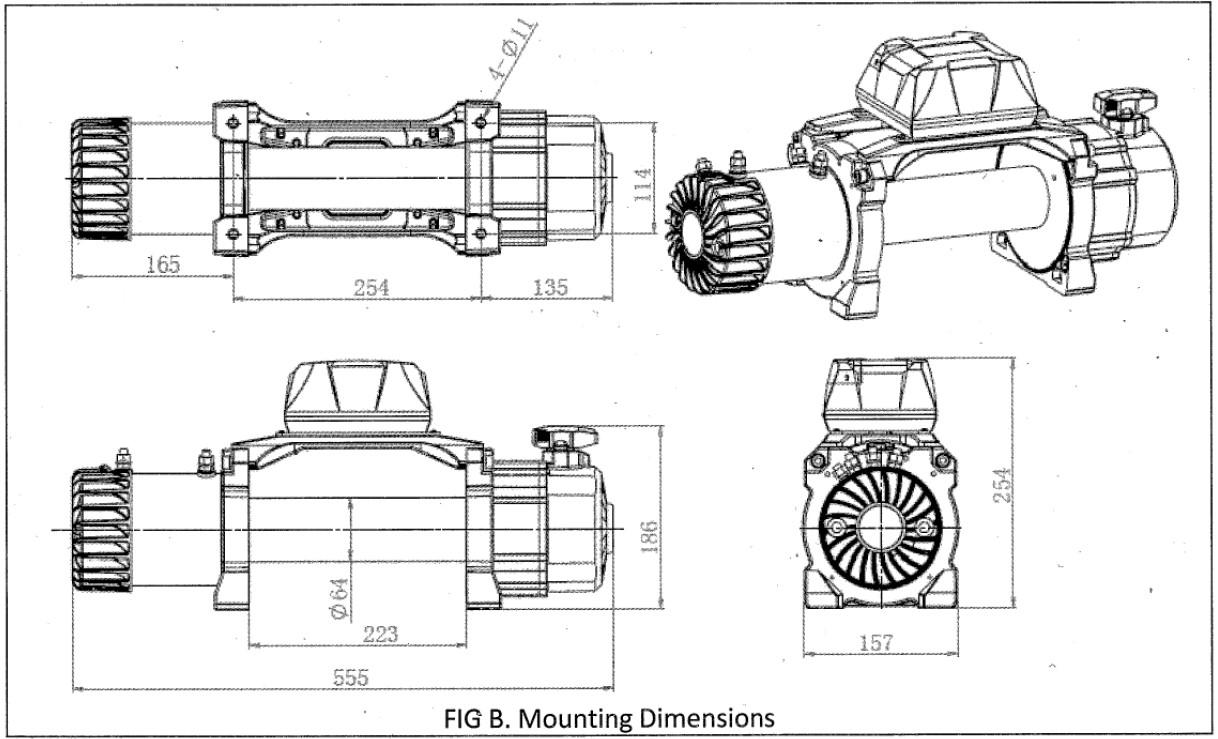 electric winch 12000lb two speed 12v dyneema