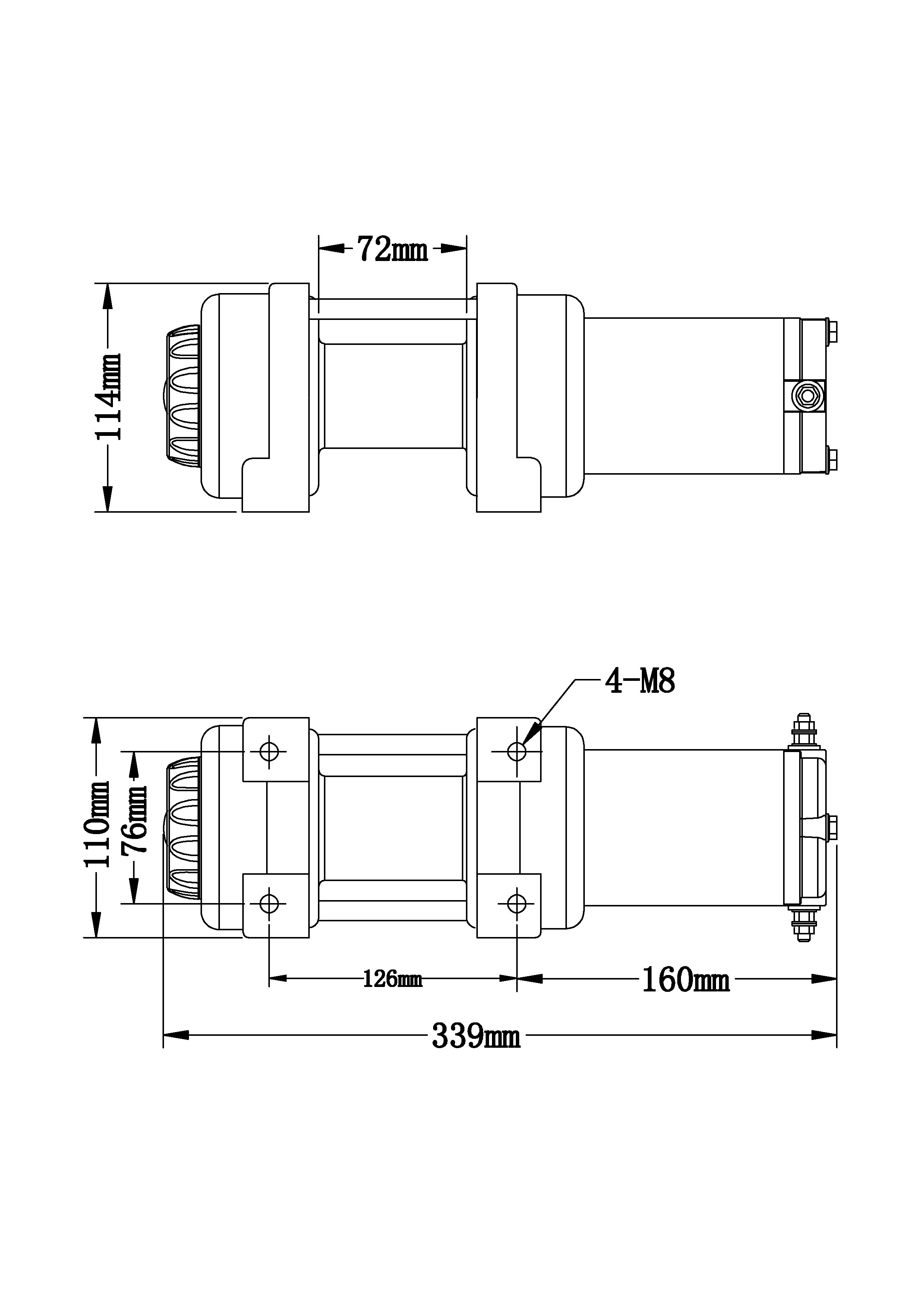 Drawing Lines Brand : Electric winch v atv boat trailer lb winchmax