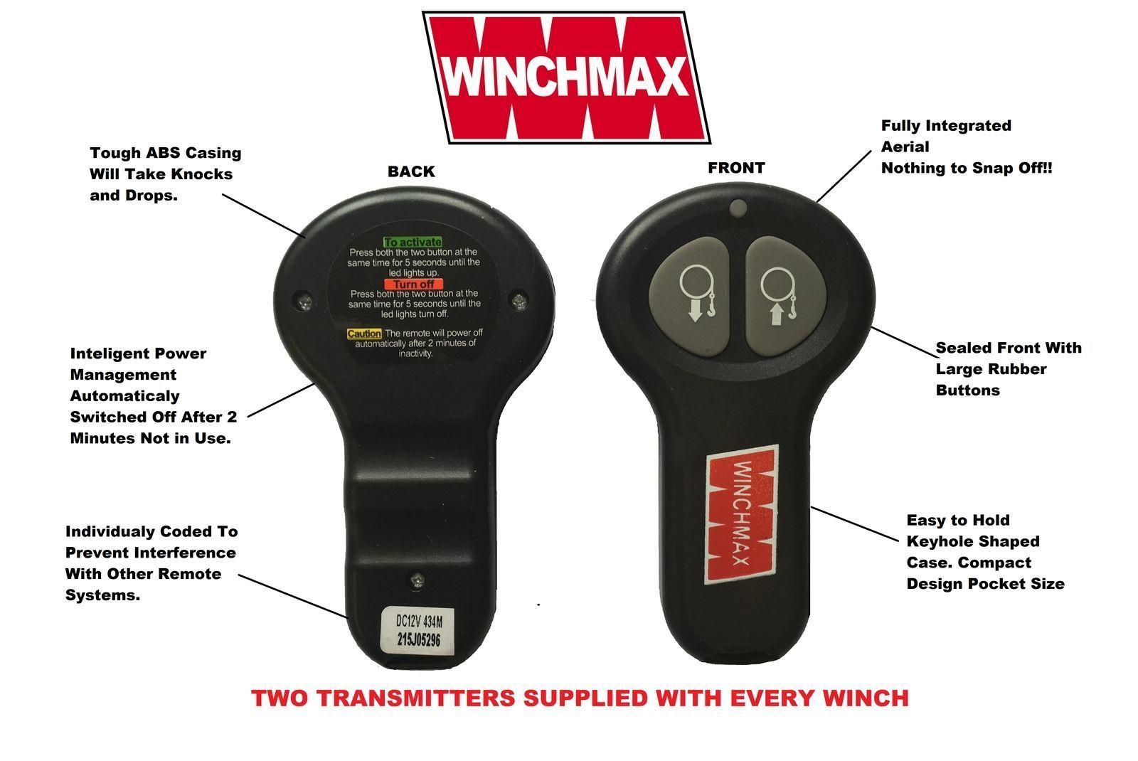 Wireless Winch Remote Control Twin Handset Winchmax Brand Manual Guide