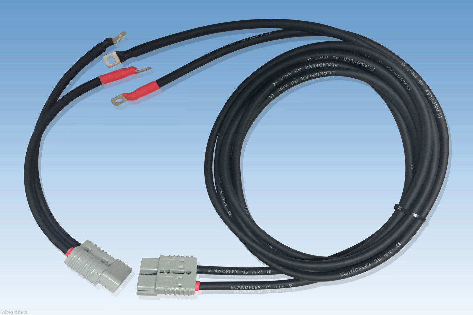 Battery Cables For Trucks : Winch battery extension cables anderson british made