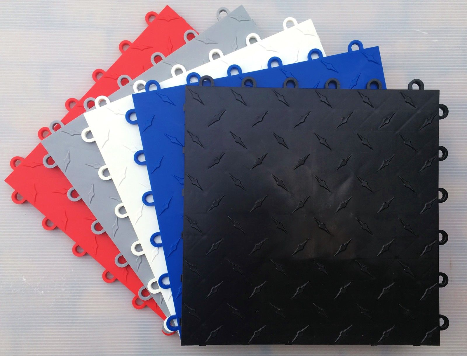 Highest quality polypropylene floor tiles sample kit 2 x tiles highest quality polypropylene floor tiles modular garage flooring system dailygadgetfo Image collections