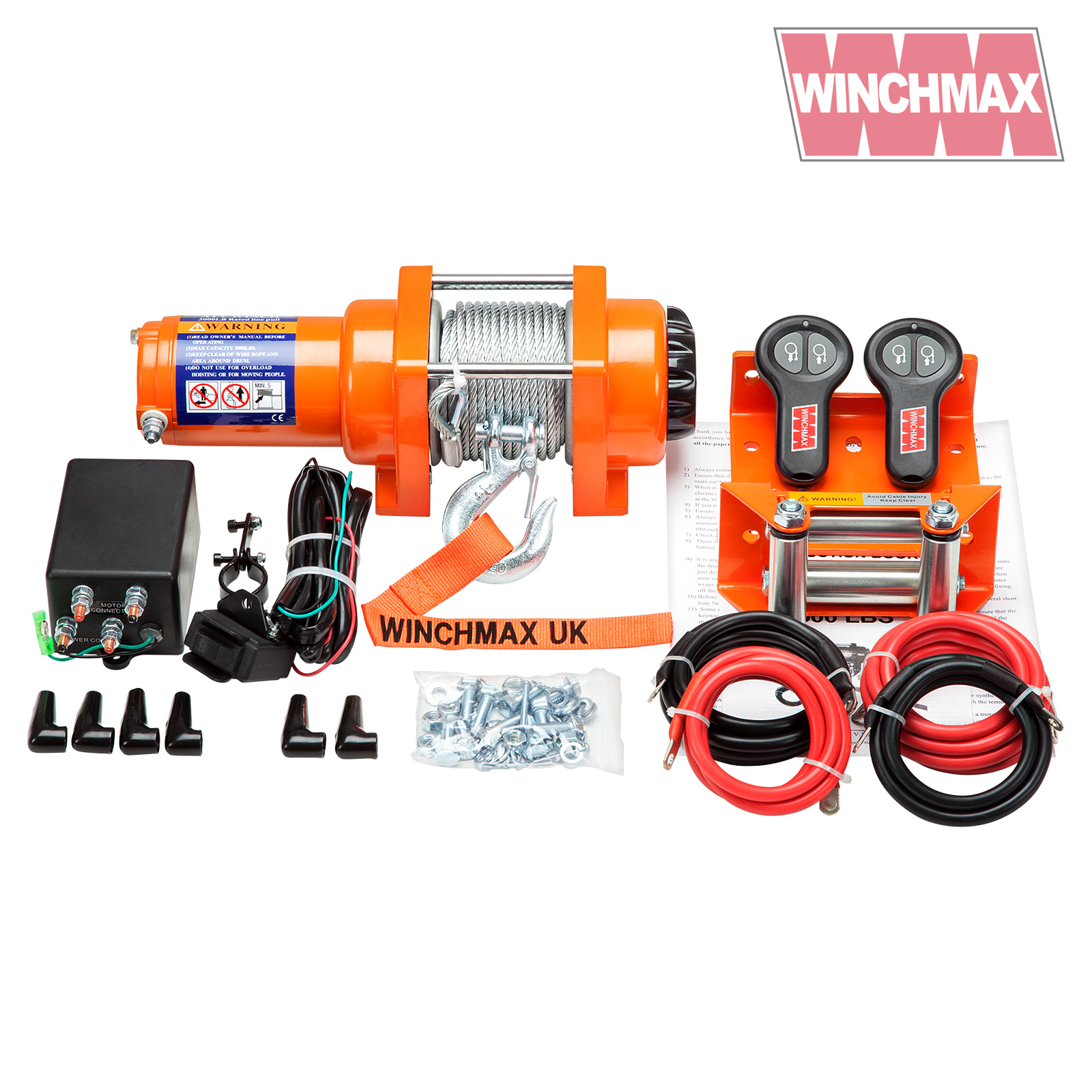 Electric Winch 12v Atv Boat Trailer 3000 Lb Winchmax Wireless Wiring Diagram