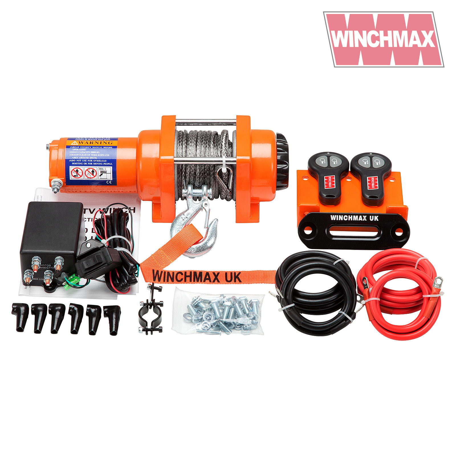 Electric Winch 12v Atv Boat Trailer 3000 Lb Winchmax Synthetic Warn 1000 Ac Motor Wiring Diagram Wm300012vrs 372 335