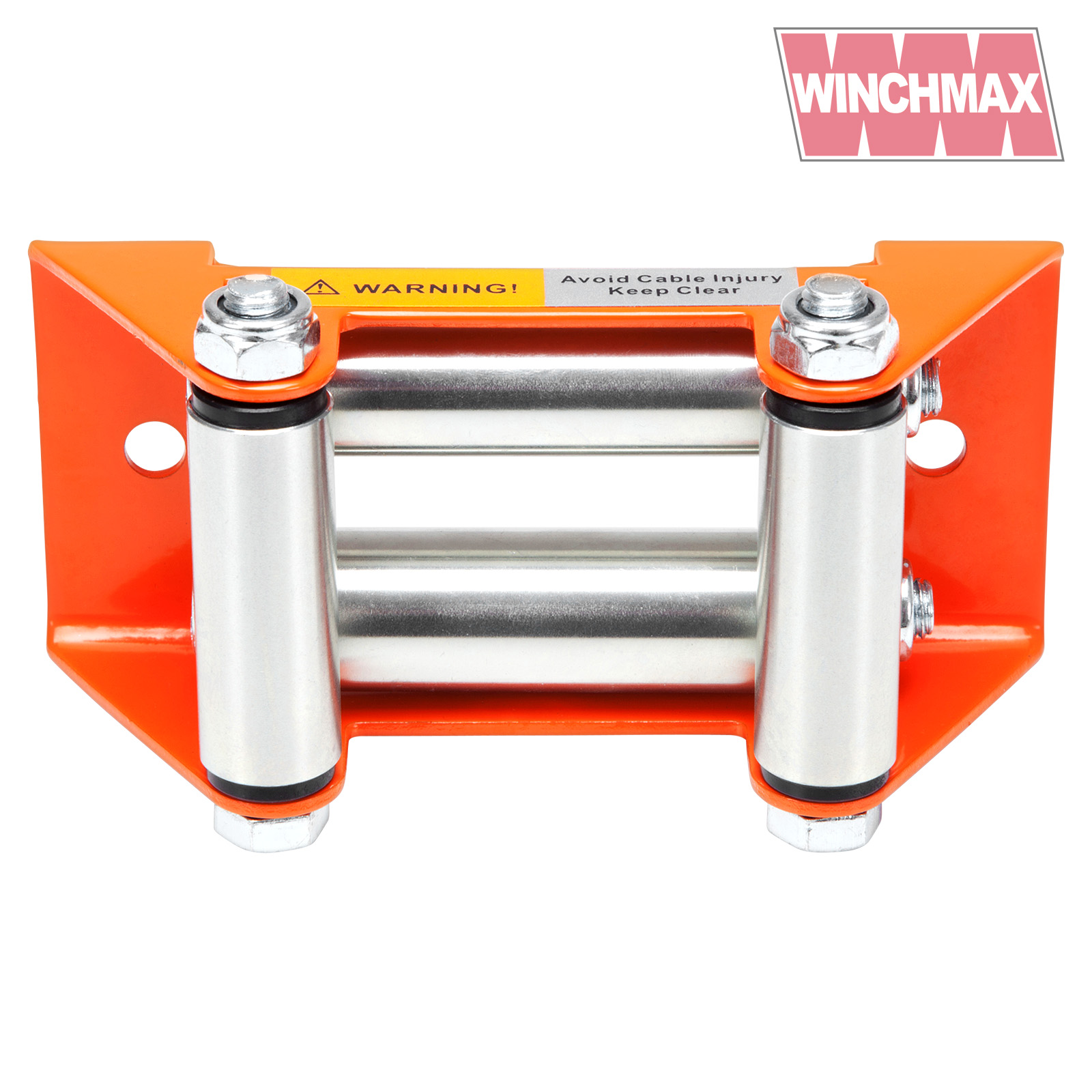 Roller Fairlead  Small  Orange  Galvanised Rollers