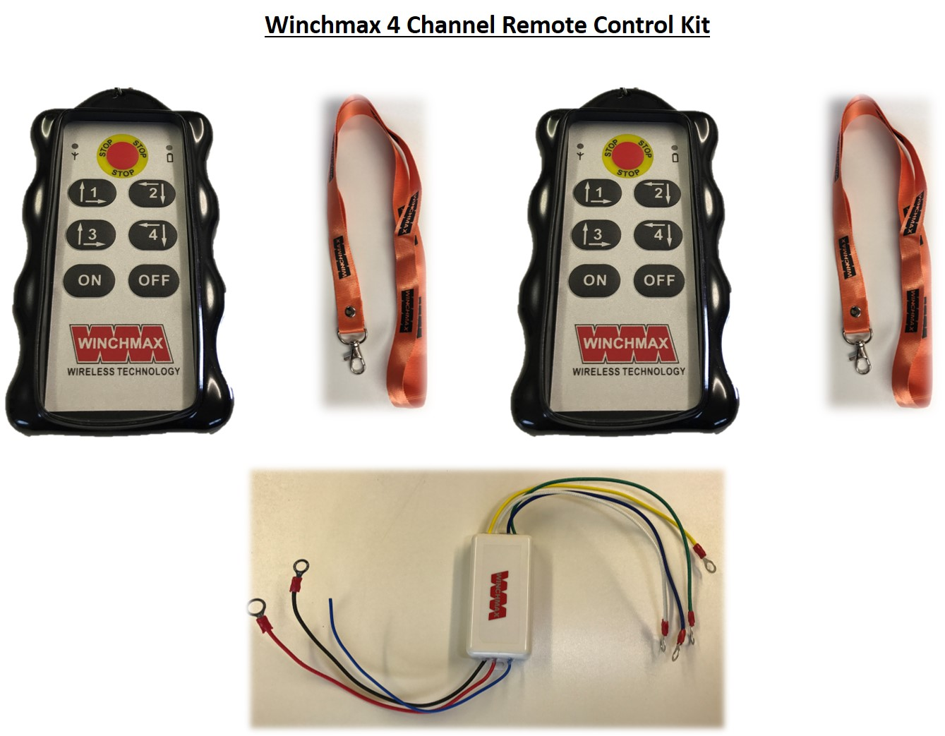 Winch Solenoid 12v Heavy Duty Upgrade Ebay Wireless Remote Wiring Diagram Winchmax 4 X Channel Twin Handset12 Volt Or 24
