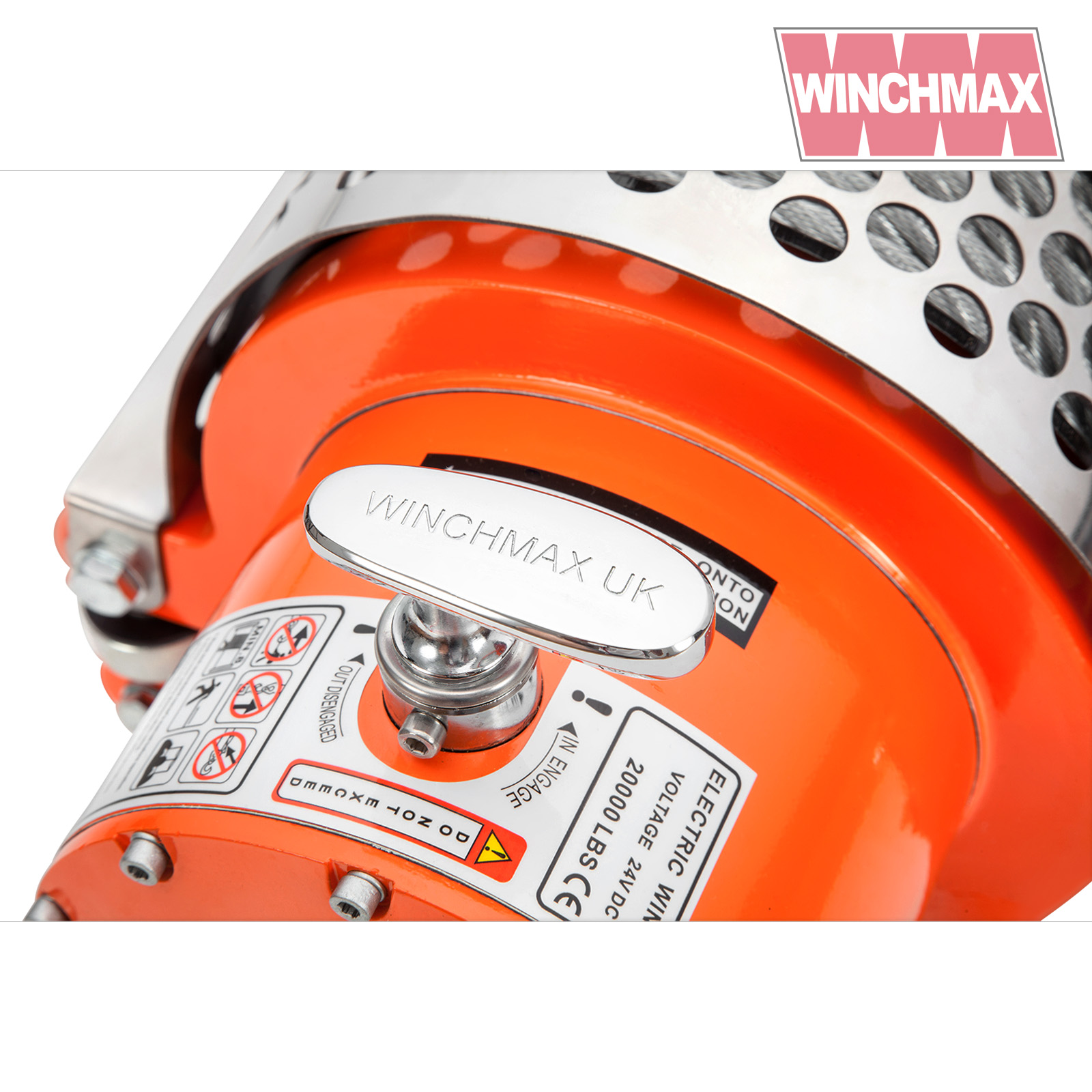 Electric Winch 24v Recovery 4x4 20000 Lb Winchmax Original Orange Wiring Instructions Remote