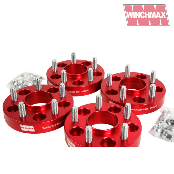Disco1 Range Rover Classic 38mm wheel spacers BLACK T1 Winchmax Land Rover Defender