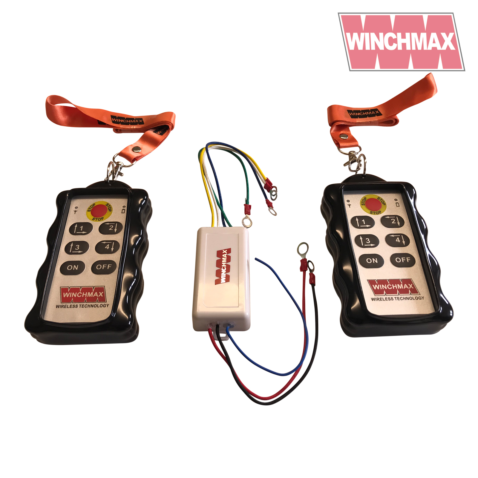 Wireless Winch Remote Control Twin Handset Winchmax Brand 12v 12 Volt Electric Wiring Diagram 4 X Channel Handset12 Or 24