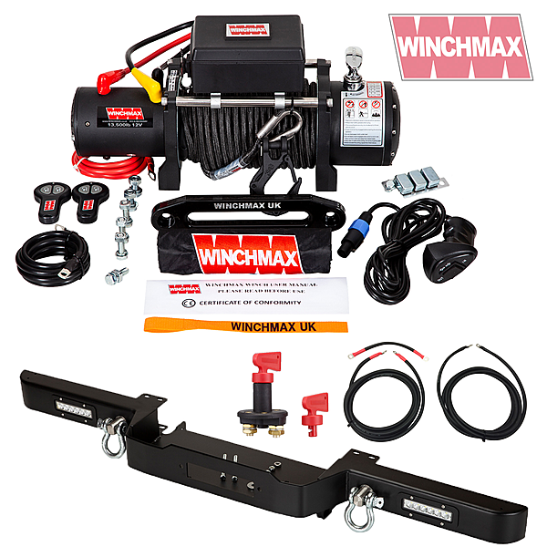 Square winch defender combo deal mil spec