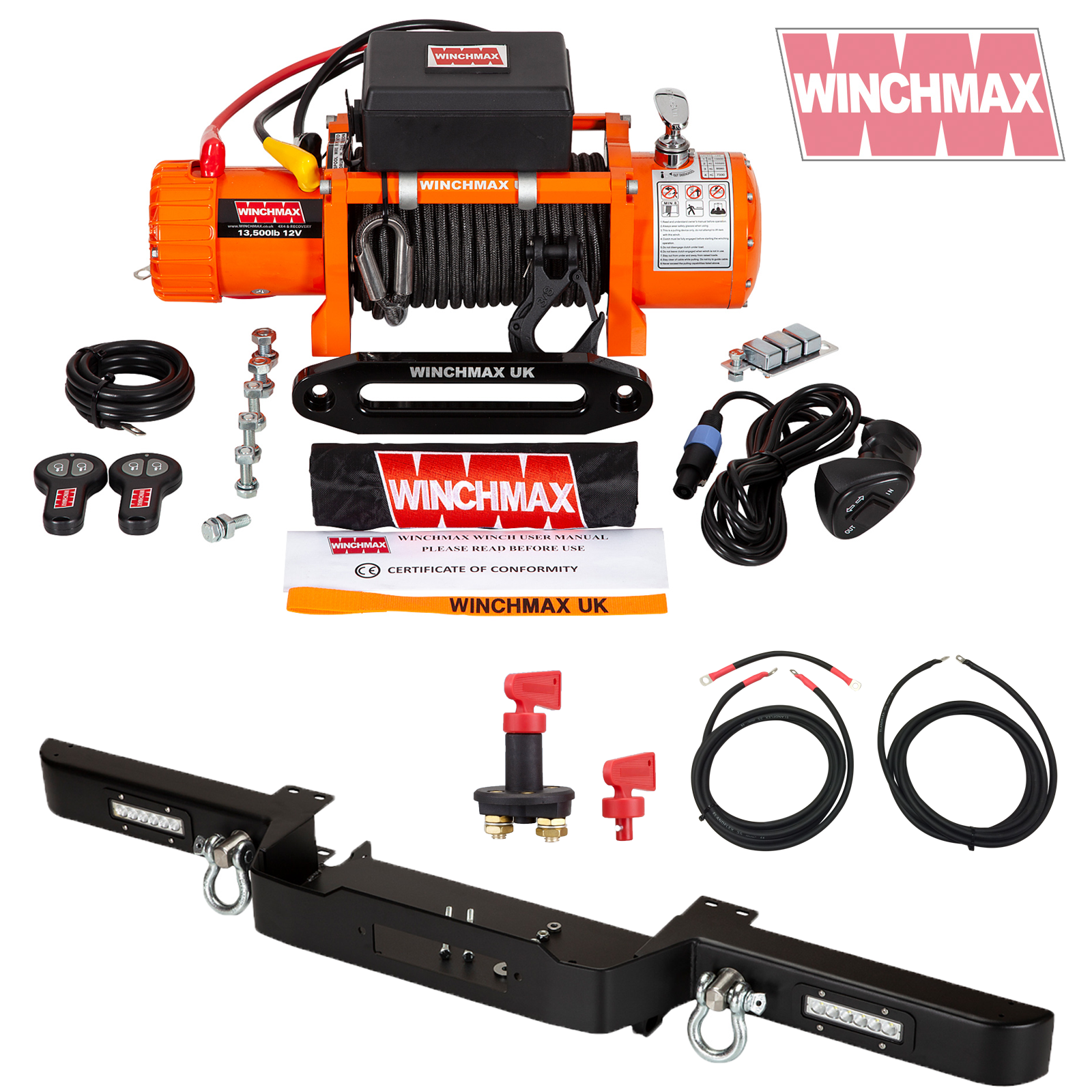 Winch defender combo deal orange
