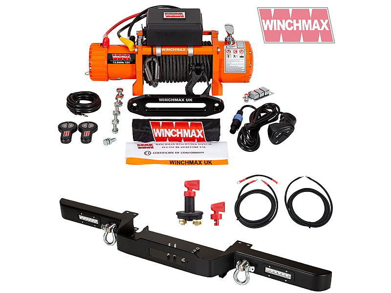 Product standard winch defender combo deal orange
